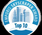 Fifth place in the top 10 best skyscraper in the world in 2012 according to the award Emporis Skyscraper Award.